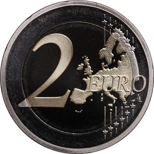 Vorderseite:Slowenien : 2 Euro 10 Jahre Euro Bargeld  2012 PP