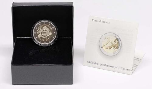 Lieferumfang :Finnland : 2 Euro 10 Jahre Euro Bargeld  2012 PP