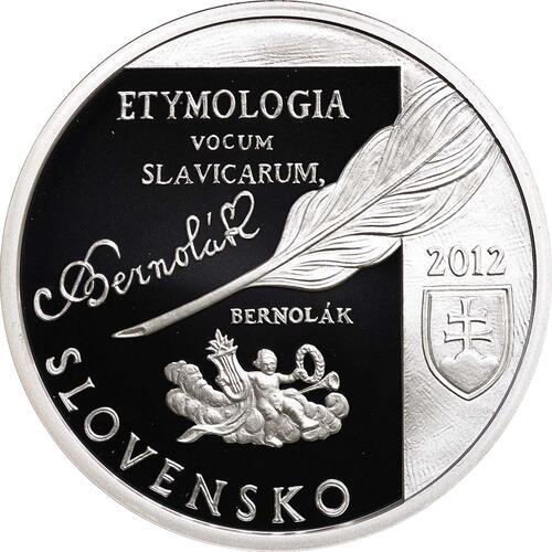 Rückseite:Slowakei : 10 Euro Anton Bernolak - 250. Geburtstag  2012 PP