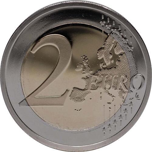 Vorderseite:Zypern : 2 Euro 10 Jahre Euro Bargeld  2012 PP