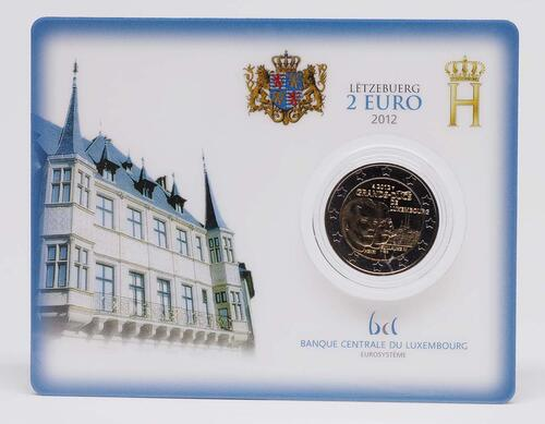 Lieferumfang :Luxemburg : 2 Euro Guillaume IV  2012 Stgl.