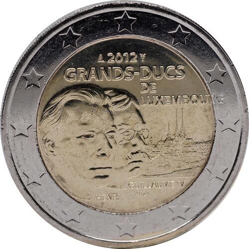 Rückseite :Luxemburg : 2 Euro Guillaume IV  2012 bfr