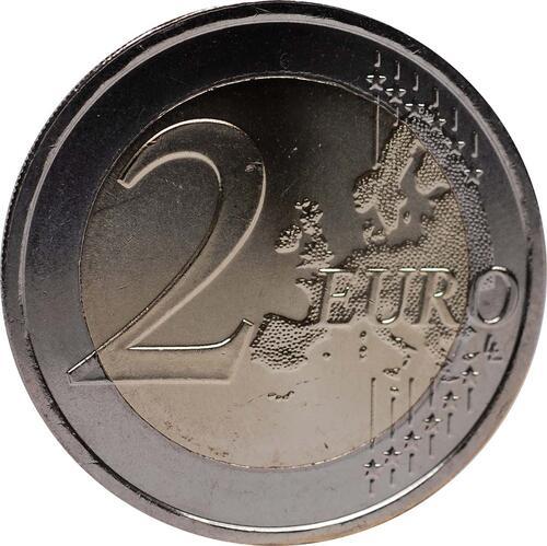 Vorderseite :Portugal : 2 Euro 10 Jahre Euro Bargeld  2012 bfr
