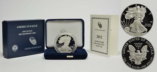 Lieferumfang :USA : 1 Dollar Silber Eagle 1oz  2012 PP