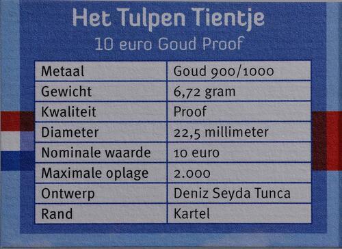 Zertifikat:Niederlande : 10 Euro Tulpe  2012 PP