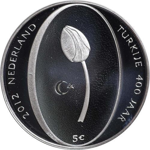 Vorderseite:Niederlande : 5 Euro Tulpe  2012 PP