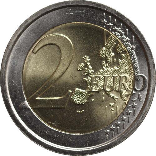Vorderseite:San Marino : 2 Euro 10 Jahre Euro Bargeld  2012 Stgl.