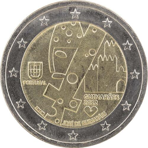Rückseite:Portugal : 2 Euro Europäische Kulturhauptstadt Guimaraes  2012 bfr