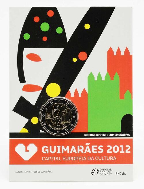 Lieferumfang :Portugal : 2 Euro Europäische Kulturhauptstadt Guimaraes  2012 Stgl.