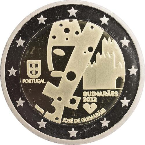 Rückseite:Portugal : 2 Euro Europäische Kulturhauptstadt Guimaraes  2012 PP