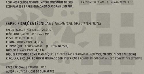 Zertifikat:Portugal : 2 Euro Europäische Kulturhauptstadt Guimaraes  2012 PP