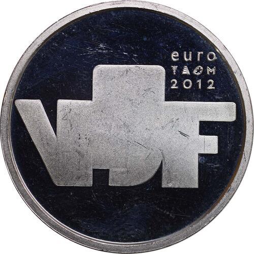 Rückseite:Niederlande : 5 Euro Bildhauerkunst  2012 vz.