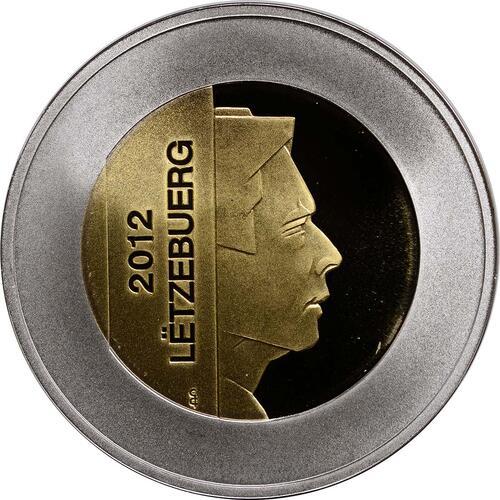 Vorderseite:Luxemburg : 5 Euro Orchidee Hummel-Ragwurz  2012 PP