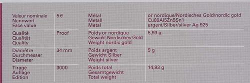 Zertifikat:Luxemburg : 5 Euro Orchidee Hummel-Ragwurz  2012 PP