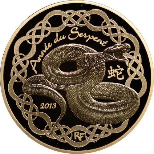 Vorderseite:Frankreich : 50 Euro Jahr der Schlange  2013 PP