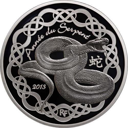Vorderseite:Frankreich : 10 Euro Jahr der Schlange  2013 PP