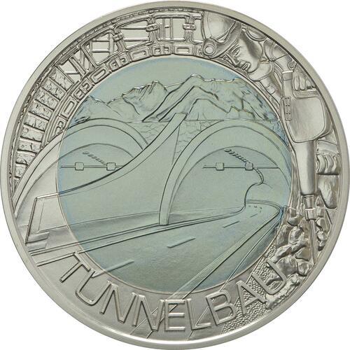 Vorderseite:Österreich : 25 Euro Tunnelbau  2013 Stgl.
