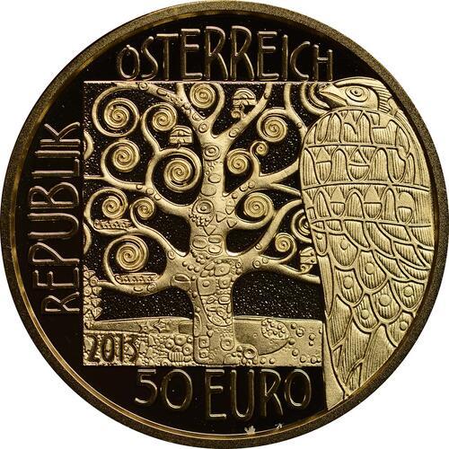 Rückseite:Österreich : 50 Euro Klimt - Die Erwartung  2013 PP