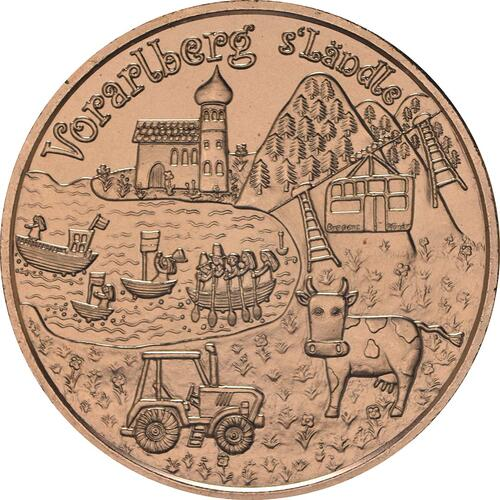 Rückseite:Österreich : 10 Euro Vorarlberg  2013 Stgl.