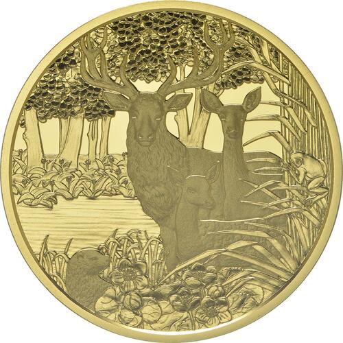 Rückseite:Österreich : 100 Euro Rothirsch  2013 PP