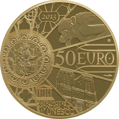 Rückseite:Frankreich : 50 Euro Notre Dame  2013 PP