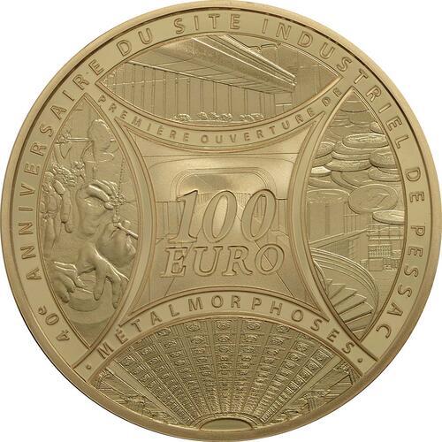 Vorderseite:Frankreich : 100 Euro MetalMorphoses - Pessac  2013 PP