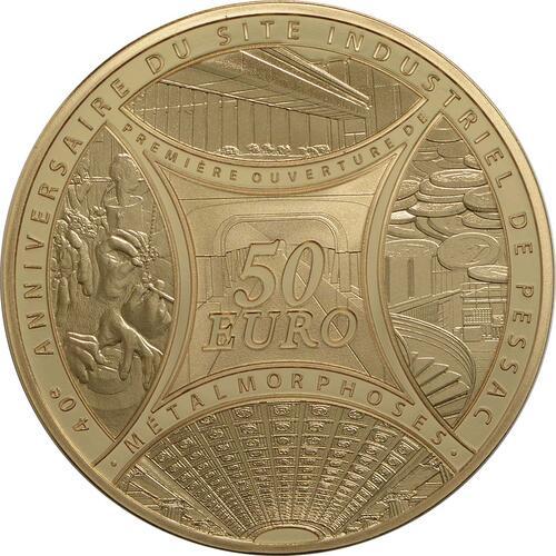 Vorderseite:Frankreich : 50 Euro MetalMorphoses - Pessac  2013 PP