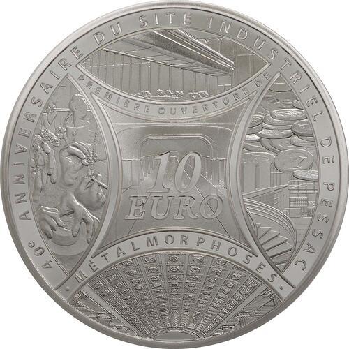 Vorderseite:Frankreich : 10 Euro MetalMorphoses - Pessac  2013 PP