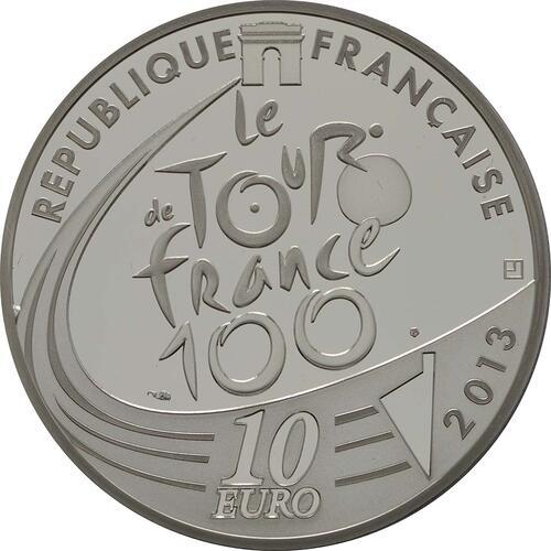 Rückseite:Frankreich : 10 Euro grünes Trikot  2013 PP