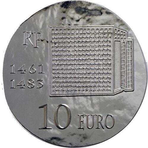 Rückseite:Frankreich : 10 Euro Louis XI.  2013 vz/Stgl.