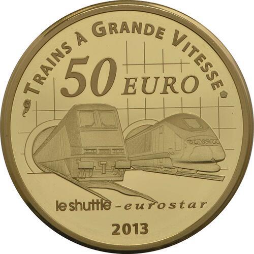 Rückseite:Frankreich : 50 Euro Kanaltunnel  2013 PP