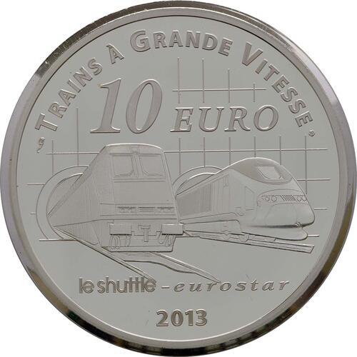 Rückseite:Frankreich : 10 Euro Kanaltunnel  2013 PP