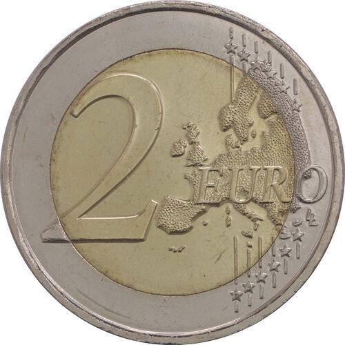 Vorderseite :Frankreich : 2 Euro Pierre de Coubertin  2013 bfr