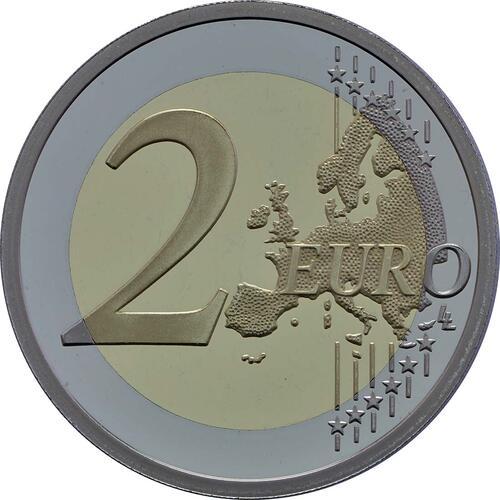 Vorderseite :Frankreich : 2 Euro Pierre de Coubertin  2013 PP