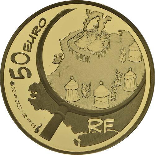 Rückseite:Frankreich : 50 Euro Asterix  2013 PP