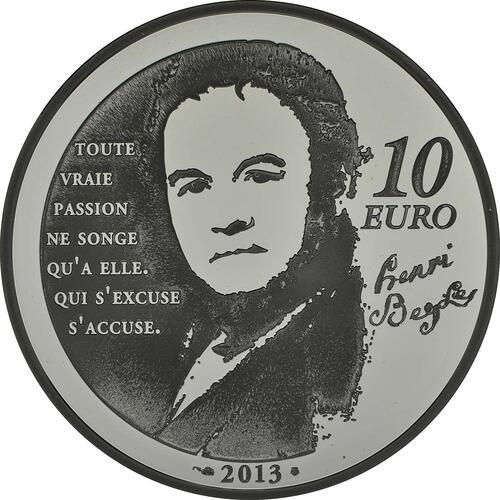 Rückseite:Frankreich : 10 Euro Julien Sorel  2013 PP