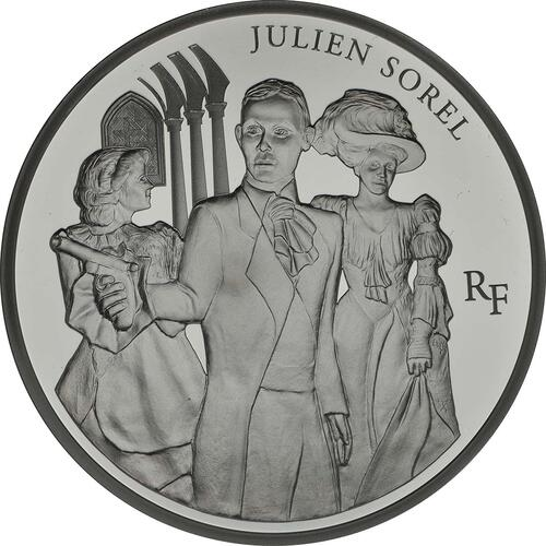 Vorderseite:Frankreich : 10 Euro Julien Sorel  2013 PP