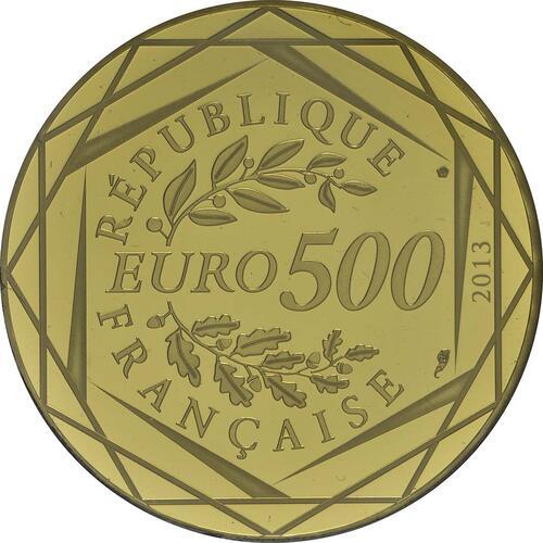 Vorderseite:Frankreich : 500 Euro Republik  2013 Stgl.