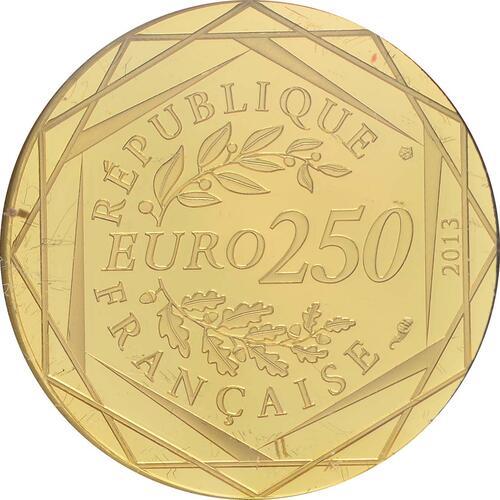 Rückseite:Frankreich : 250 Euro Frieden  2013 Stgl.