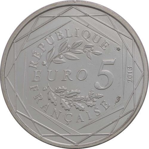 Rückseite:Frankreich : 5 Euro Freiheit  2013 Stgl.