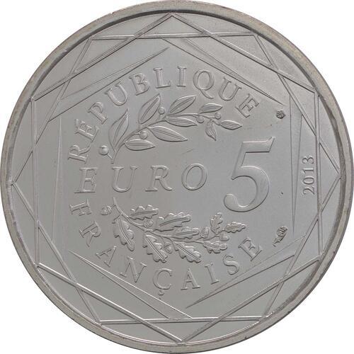 Rückseite:Frankreich : 5 Euro Gleichheit  2013 Stgl.