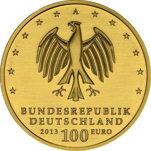 Rückseite:Deutschland : 100 Euro Gartenreich Dessau-Wörlitz Buchstabe unserer Wahl  2013 Stgl.