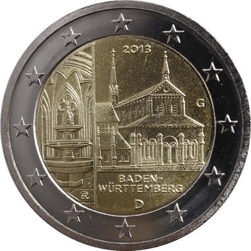 Rückseite :Deutschland : 2 Euro Baden Württemberg - Zisterzienserkloster Maulbronn  2013 Stgl.