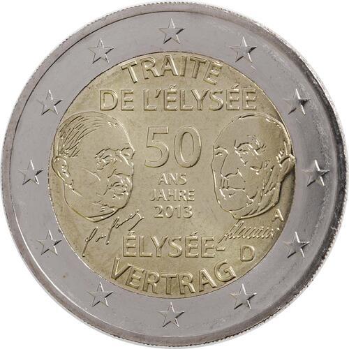 Rückseite :Deutschland : 2 Euro Elysée-Vertrag  2013 bfr