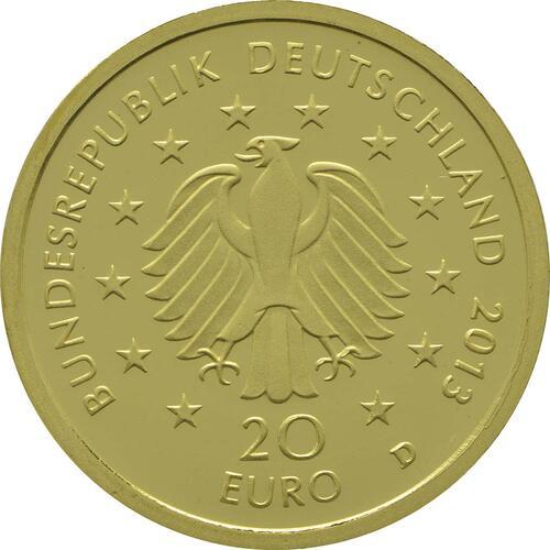Rückseite:Deutschland : 20 Euro Kiefer  2013 Stgl.