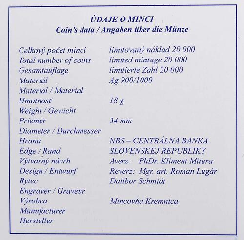 Zertifikat:Slowakei : 10 Euro Nationalbank  2013 PP