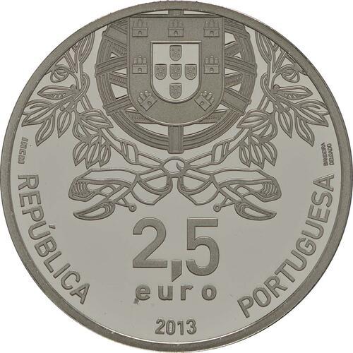 Rückseite:Portugal : 2,5 Euro 150 Jahre Rotes Kreuz  2013 PP