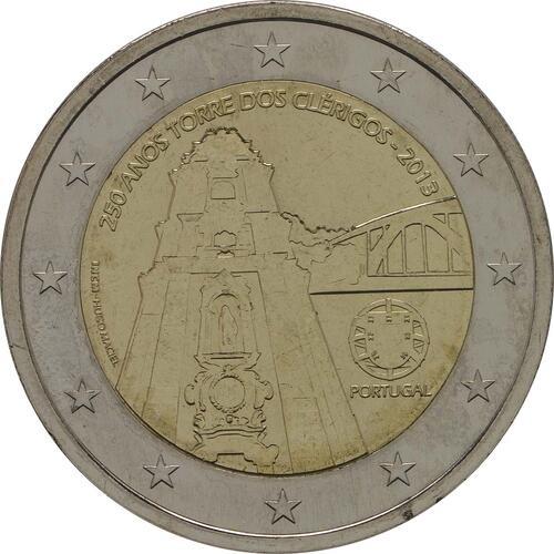 Rückseite:Portugal : 2 Euro Torre dos Clérigos  2013 bfr