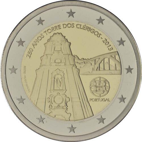Rückseite:Portugal : 2 Euro Torre dos Clérigos  2013 PP