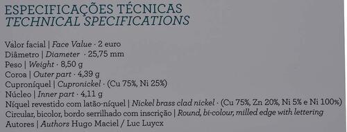Zertifikat:Portugal : 2 Euro Torre dos Clérigos  2013 PP